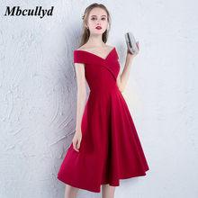 f14ca2c28 Mbcullyd cuello rojo vestidos de graduación 2019 Sexy corto de la longitud  de la rodilla Vestido