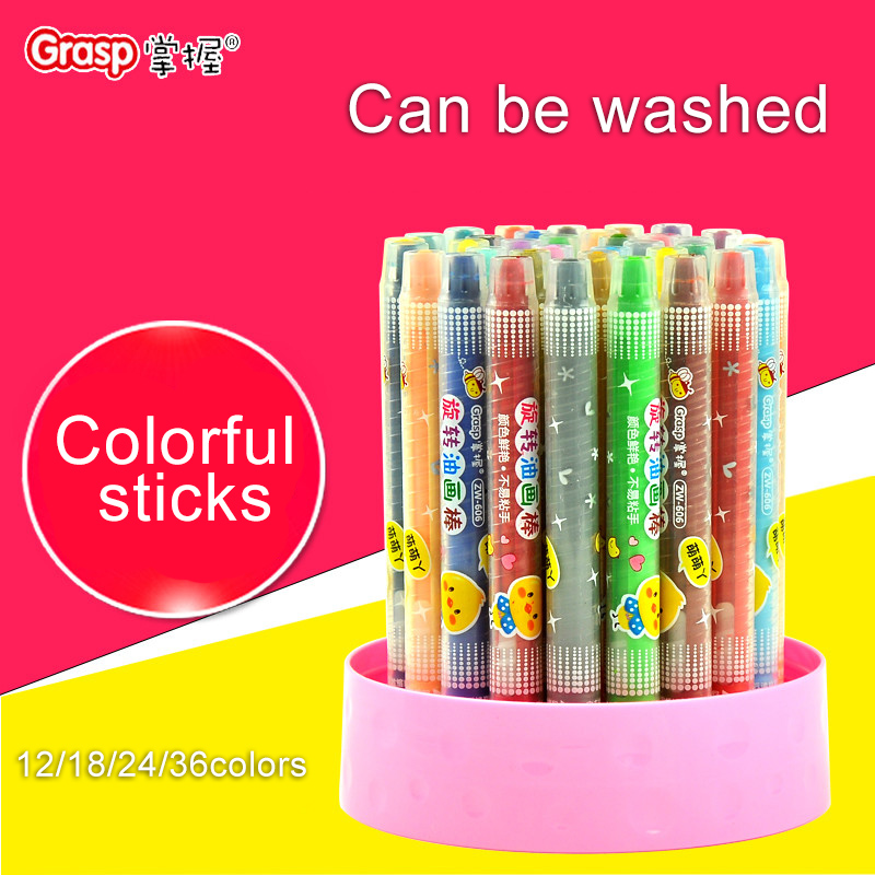 GRASP Crayons 12/18/2436 Colors Colorful Sticks New listing Creative School Stationery Office Supplies Gifts Art Crayons for Kid  цены