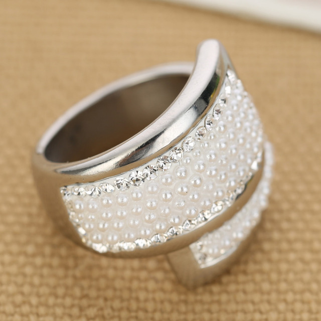 Creative Beads: 316L Stainless Steel Creative Beads Women Wedding Rings-in