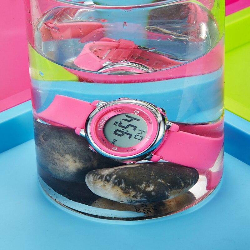 Fashion Children Digital Watch Cute Kids LED Sport Wristwatch Boys Girls Gift Waterproof Watches Pretty Alarm Clock Hour Xfcs