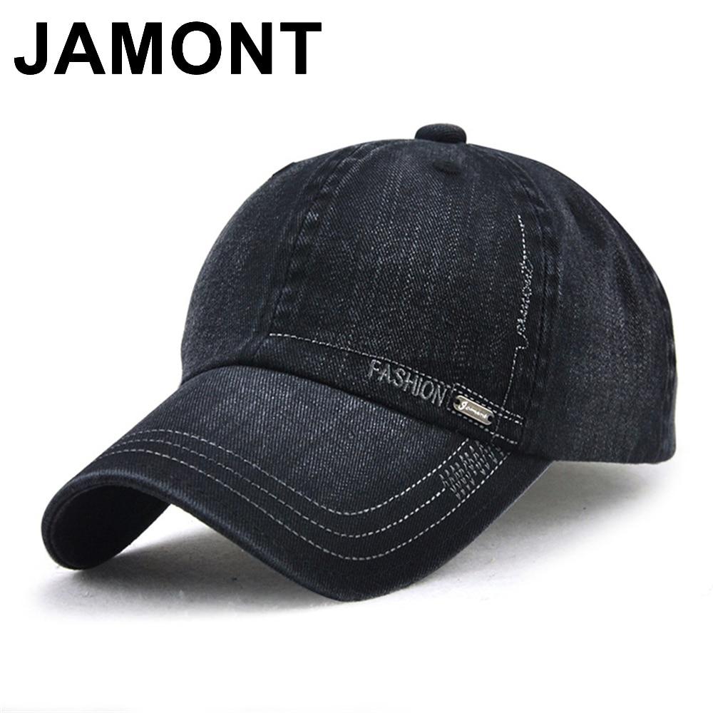 Jamont Mens Vintage Cotton Baseball Snapback Cap Adjustable Strapback Casquette Polo Hat Solid Color Gorras Casquette Sun Caps