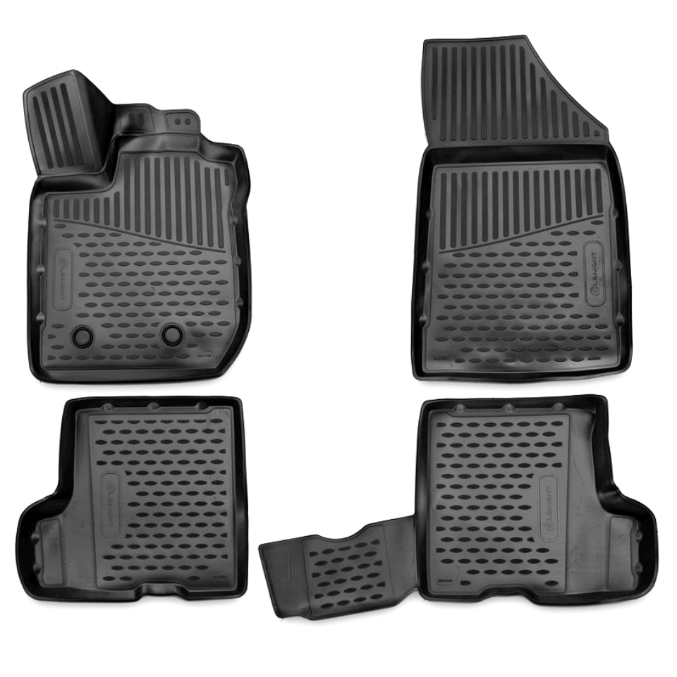 3D floor mats for Lada Xray 2016-2018 WITHOUT STORAGE BOX under passenger seat Element ELEMENT3D5237210k 3d floor mats for lada largus element f620250e1