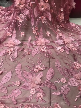 DI YA SI French Net Lace Fabric 2018 Latest African Lace Fabric With Embroidery Mesh Tulle Lace Fabric High quality Nigerian Lac