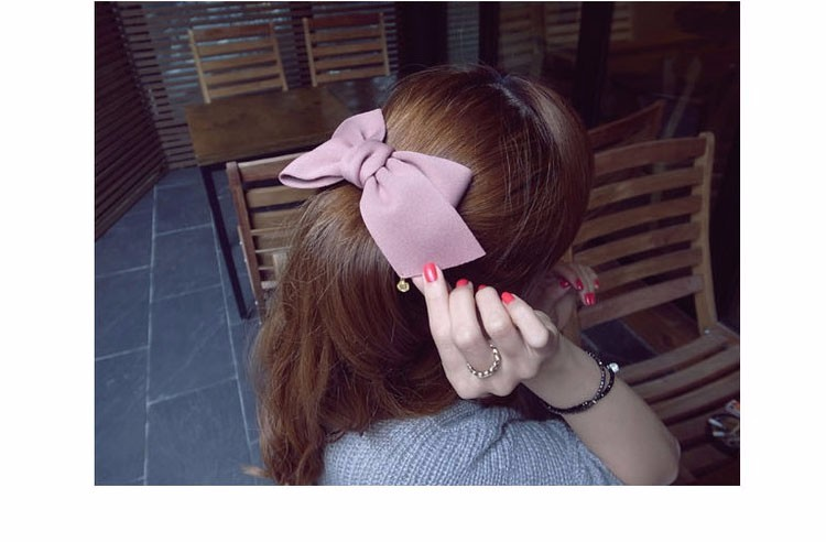 HTB1rvsSOFXXXXa_XVXXq6xXFXXXv Pretty Solid Cloth Big Bow Hair Clip For Women - 7 Colors