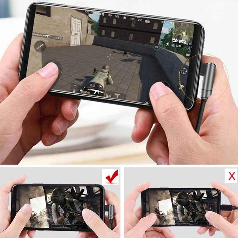 Auriculares de 90 grados para juegos graves profundos de Metal en los oídos mi c Control de volumen para Xiaomi mi 6 6X 8 mi x 2 2S Note 3 Huawei Mate 10