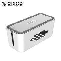 ORICO Kabel Manager Doos met Telefoon Houder voor Power Strip Doos Adapter Draad Lader Lijn USB Netwerk HUB Kabelmanagement Doos ABS