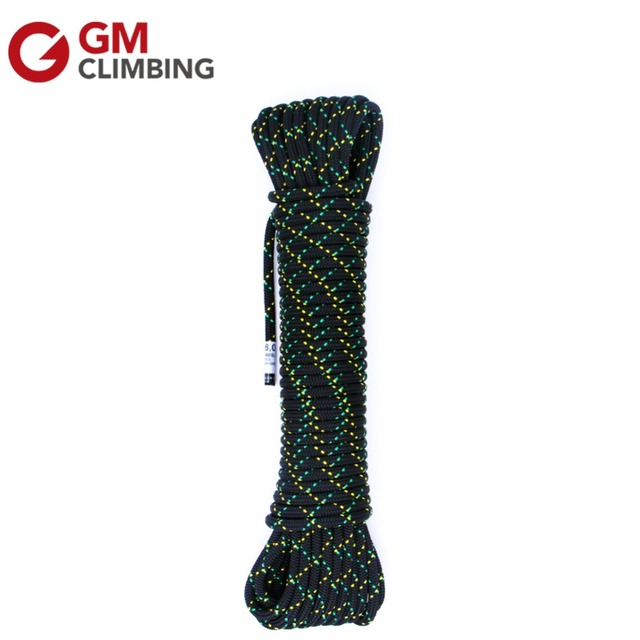100ft Polyester Climbing Rope 6mm Double Braid Accessory Cord for Tree Climbing Mountaineering Rescue