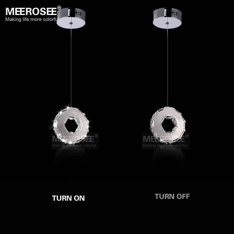 Free Shipping Modern Crystal LED Pendant Light Lustres LED Indoor Lighting 1 Ring Stair Aisle Porch Lamp Price for 1 PC Only