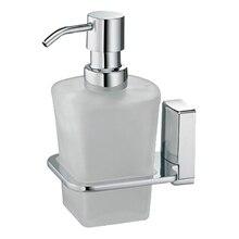 Дозатор жидкого мыла WasserKRAFT Leine K-5099 (Металл, хромоникелевое покрытие, уплотнительные пластиковые кольца, матовое стекло)