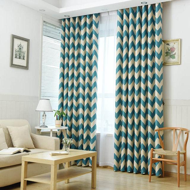 Online Shop Mediterranean Blue Stripes Tende Camera Da Letto ...