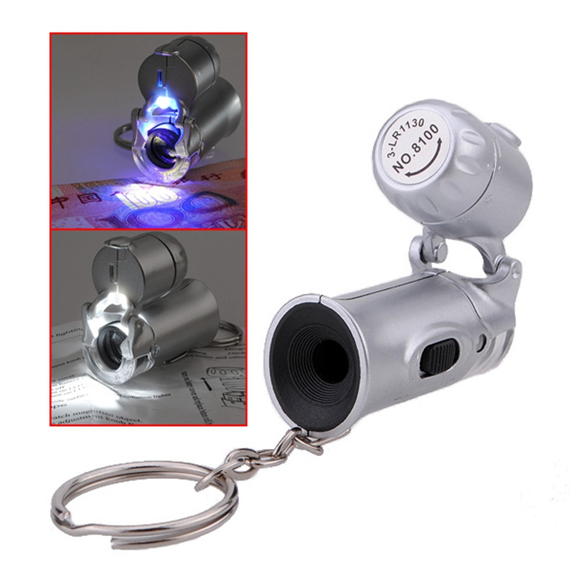 Outdoor Lighting Spotlights For Home Mini Microscope: Mini 60X Microscope Magnifier Jewelers Eye Loupe LED