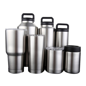 UPORS 10/12/18/20/30/36/64OZ Stainless Steel Water Bottle With Lid BPA Free Insulated Coffee Tumbler Outdoor Sport Water Bottle