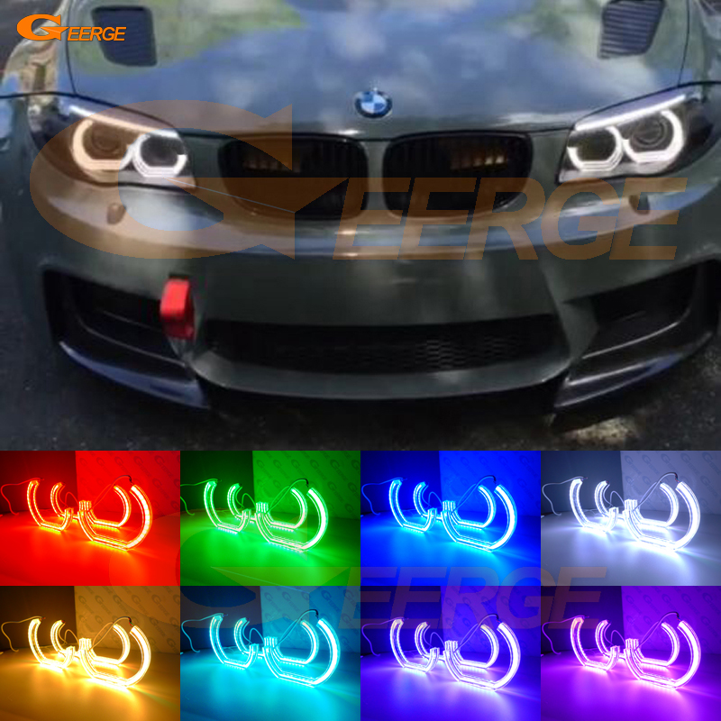 Здесь продается  For BMW 1 Series E82 E88 E87 E81 2008 2009 2010 2011 Excellent DTM M4 Style Ultra bright Multi-Color RGB LED Angel Eye kit  Автомобили и Мотоциклы