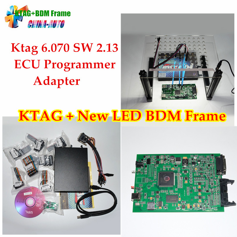 KTAG V2.13 + Date LED BDM Cadre Avec 4 Sonde Stylos ECU Chip Tuning Outil Pour K-Tag Kess V2 Fgtech Galletto BDM100 ECU programmeur
