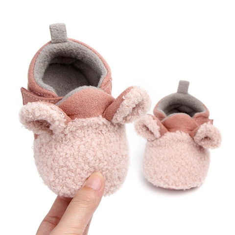 Autumn Winter Baby Cotton Shoes Baby Girls Boys Child Warm Non-slip Home Shoes Toddler Shoes First Walkers Shoes 0-18M Lahore