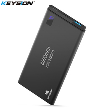 KEYSION 2 Port PD Fast Charge Power Bank 8000mAh QC 3.0 2.0 Quick Charge Portable Metal Battery Powerbank for iPhone XS Max XR X