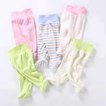 2017 Baby pants spring fashion 100% cotton infant leggings newborn tights girl baby clothing high elasticity trousers