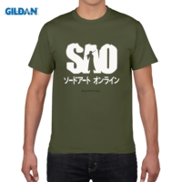 GILDAN Pattern T Shirt Men Anime Sword Art Online Sao Cosplay Unisex Casual Cotton T Shirt