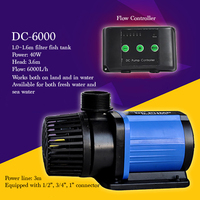 DC-6000マイクロ周波数可変ポンプ水槽水族館使用水中ポンプ静かなミニ電気水ポンプ流量controlable