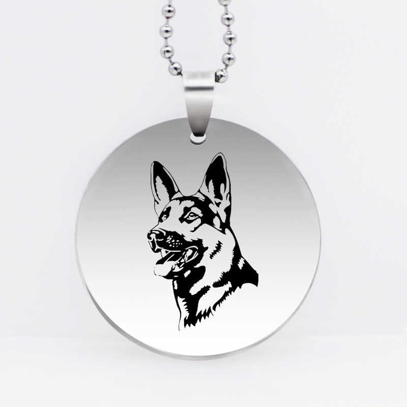 316L Stainless Steel Personality GERMAN SHEPHERD DOG Pendant Necklace Dog Jewelry Drop Shipping YLQ6144