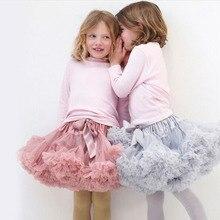 Юбка-пачка для девочек г. Пышное Бальное Платье для балета, летняя одежда для маленьких девочек юбки для танцев мини-юбка-пачка Saias faldas meninas, Прямая поставка