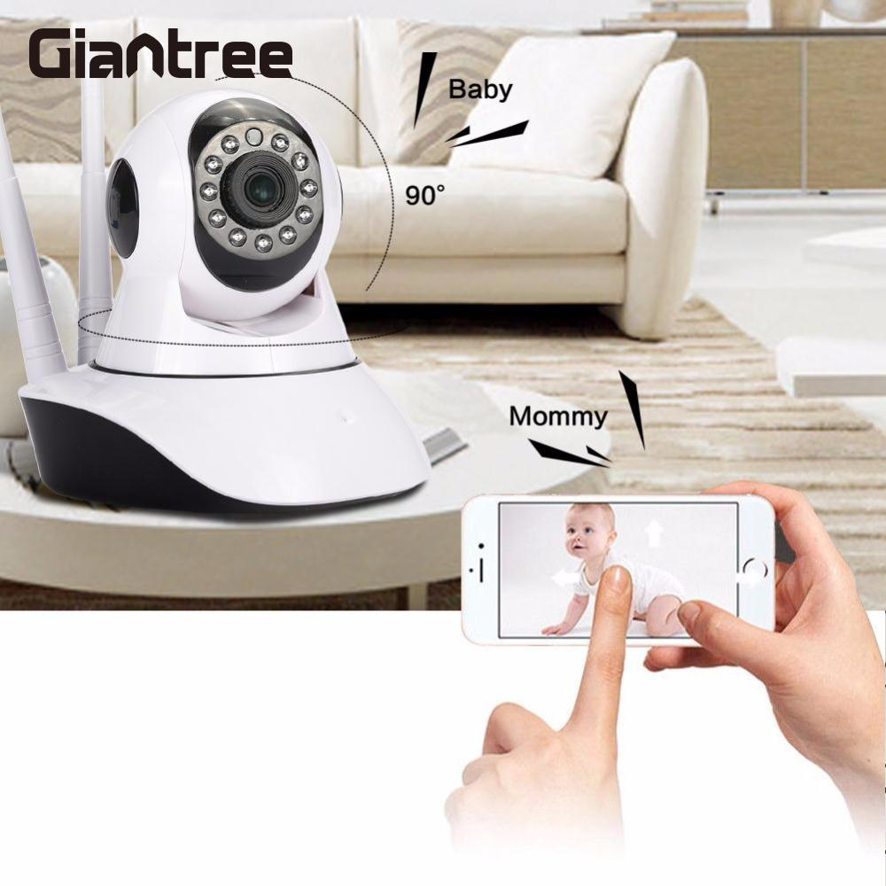 giantree HD 1080P Baby Monitor WIFI IP Camera Wireless Network Night Vision Camera Office Universal Home safety EU/US plug giantree 960p hd wifi ip camera infrared night vision baby monitor home security monitor camera support tf card white eu us