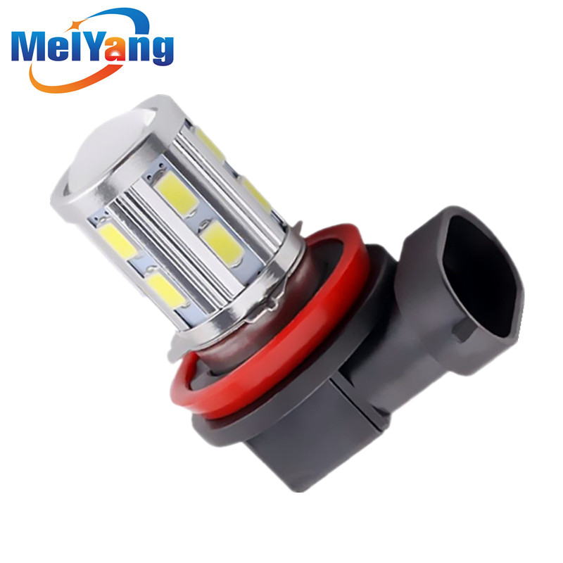 H11 Led High Power 12 SMD 5730 5W Cree Chips LED Xenon white Lights led car Bulbs car light source Fog lamp 2pcs xenon hid white 25w high power 5 xcree xp e chips 881 h27 pgj13 led fog light driving drl bulbs