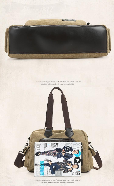 2016 men\'s travel bag canvas men messenger bag brand men\'s bag vintage style briefcase,Travel Shoulder bag (21)