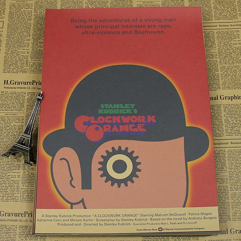 a clockwork orange movie poster estilo vintage paper retro poster pared bar casa orden arte decoracin