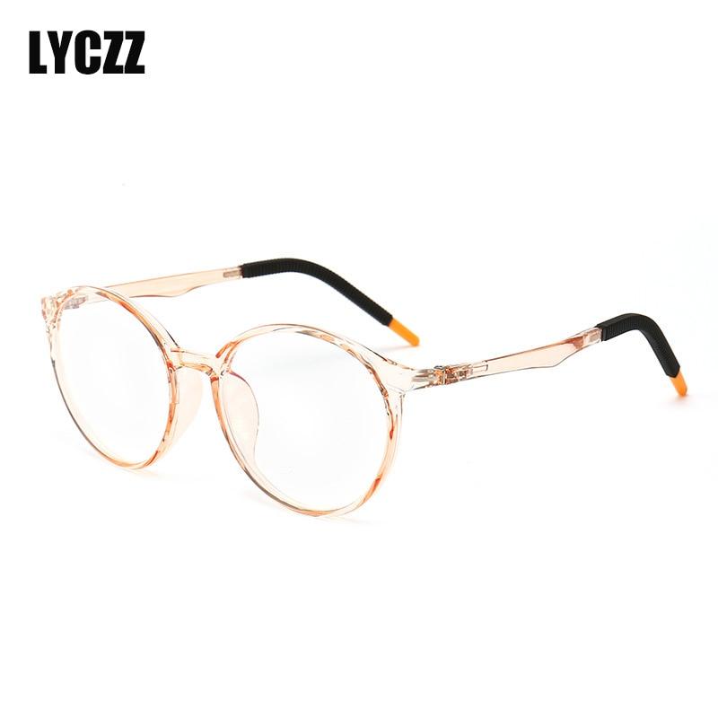 c56f914e14 Marco medio azul película Anti-Luz Azul miope gafas resina Nearsight  hombres miope miopía gafas
