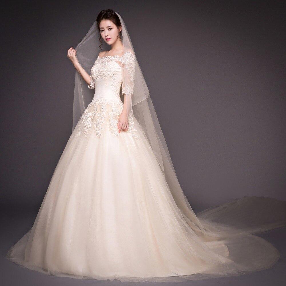lace vintage real photo wedding dress half sleeve bridal gowm simple ...