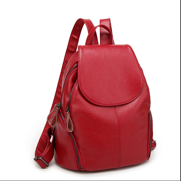 купить New Genuine Leather Women Mochila Feminina 2018 Rugzak Female Backpack Sac A Dos Travel School Bags Bagpack Girls Preppy C686 по цене 1627.18 рублей