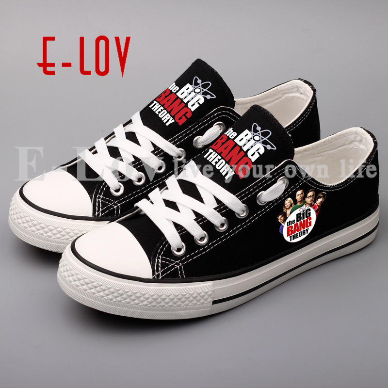 E-LOV Customized Valentine Couples Lovers Flat Shoes Printing The  Unisex Canvas Shoes Zapatos brand quality the walking dead canvas shoes printed women casual flat shoes diy couples and lovers valentine gifts graffiti shoe
