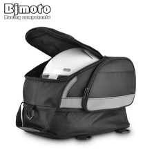 цены BJMOTO Motorcycle Saddle Bags Motorbike Rear Edging Bag Motocross Helmet Bag Waterproof Tail Luggage Tank Package