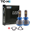 For BMW New 5 Series X5 H7 LED Headlight Kit  with 2 Pieces Adapter Plug&Play Car lights Super Bright 6000k Cold White