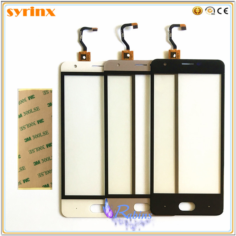SYRINX 3m tape Touch Screen Digitizer Front Glass Sensor For Ulefone U008 Pro Replacement Phone Touchscreen Touch Panel