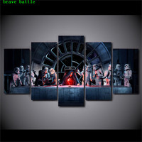 Star Wars Spacecraft Robot 5 Pieces Canvas Painting Print Living Room Home Decor Modern Wall Art Oil Painting Poster