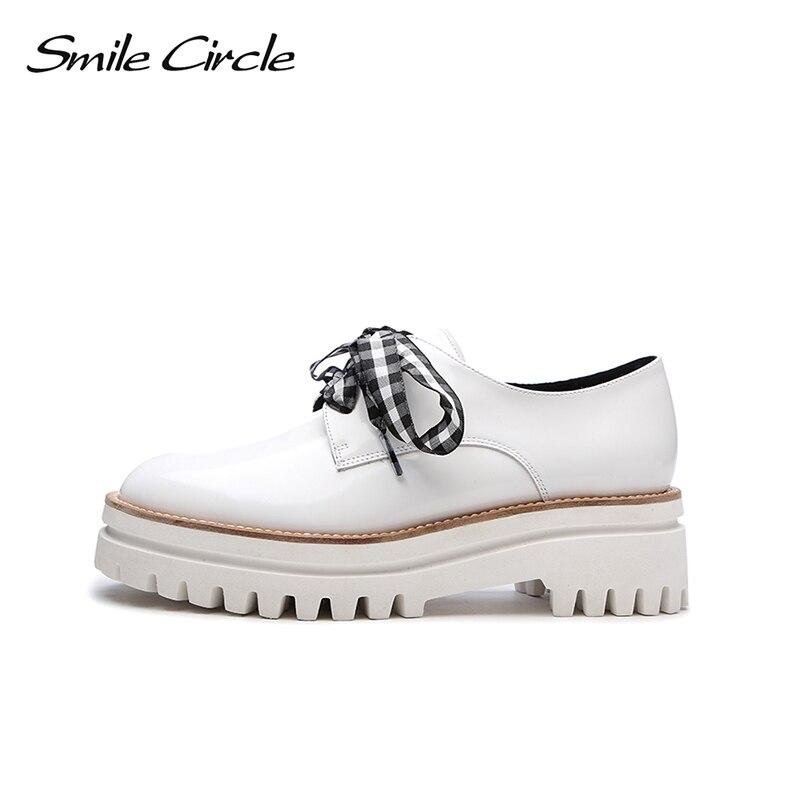 Schuhe Stil L Lackleder cheln Britische Kreis F XiPZOku