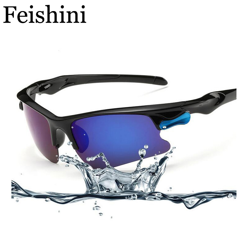 FEISHINI profesional Toutdoor HD UV400 gafas de sol para hombres, gafas de peso súper ligero último de alta resistencia de vidrio de Sun para hombre 2018