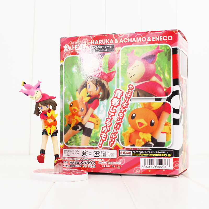 GEM Anime Haruka Achamo Eneco Figure Toy May Torchic Skitty Collectible Model Toy for Kids ...