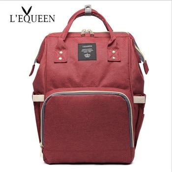 рюкзак детская сумка   Сумка для подгузников LEQUEEN, Большой Вместительный рюкзак для мамы, водонепроницаемая сумка для беременных