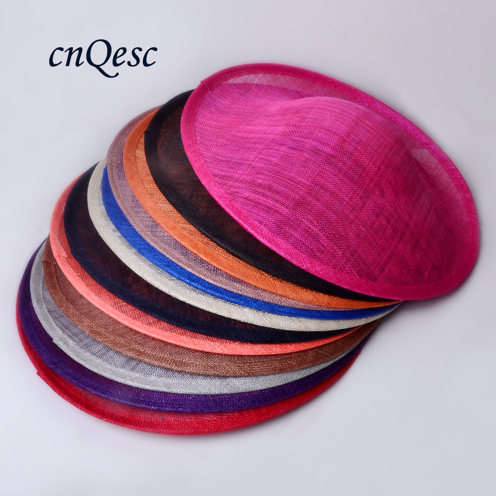 High quality sinamay binding large saucer sinamay base fascinator hat craft supply for derby Races Party