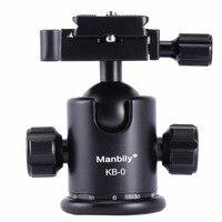Manbily KB 0 Professional Tripod Heads,Universal Ball Head with Fast Mounting Plate,Camera Tripod Head for Canon Nikon DSLR