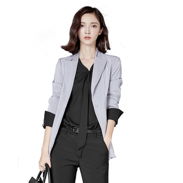 Aliexpress.com : Buy 2017 Long Black Blazer Women Casual Plus Size ...