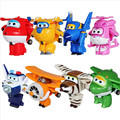 8 estilos Super Asas Mini Aviões Avião Deformação Robô Brinquedos Mutável toy figuras de ação Figuras de Ação Super Asas