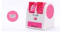 Dupla saídas de ar fragrância fragrância de verão de ar condicionado ventilador USB mini dispositivo de resfriamento 2.5 w Frio/máquina refrescante