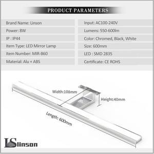Image 4 - 2in1 Linson 60 centimetri 8W 650lm IP44 CE ROHS Cromato A Led Specchio del Bagno lampada da parete a led led luce del governo