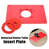 High Quality Universal Router Table Insert Plate Aluminium Alloy For DIY Woodworking Engraving Machine 200x300x10mm