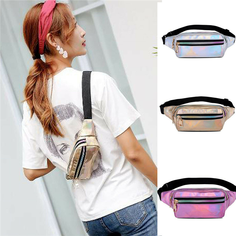 79cf7b21d52a AIREEBAY Camouflage Leather Waist Packs Female Korean Style Vintage ...