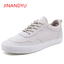 Casual Waterproof Shoes Men White Lace Up leather Sneakers 2019 New Fashion Breathable Soft Mens Flat Sport Footwear